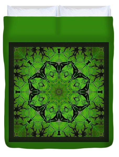 Duvet Cover featuring the photograph Bleeding Heart Mandala by I'ina Van Lawick