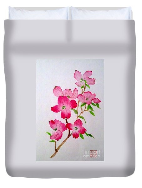 Blooming Dogwood Duvet Cover