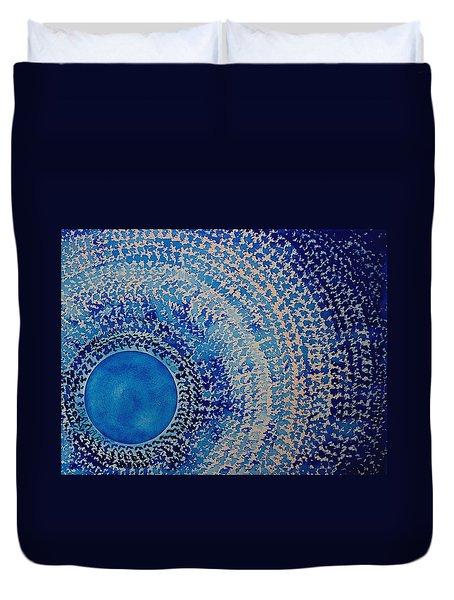 Blue Kachina Original Painting Duvet Cover