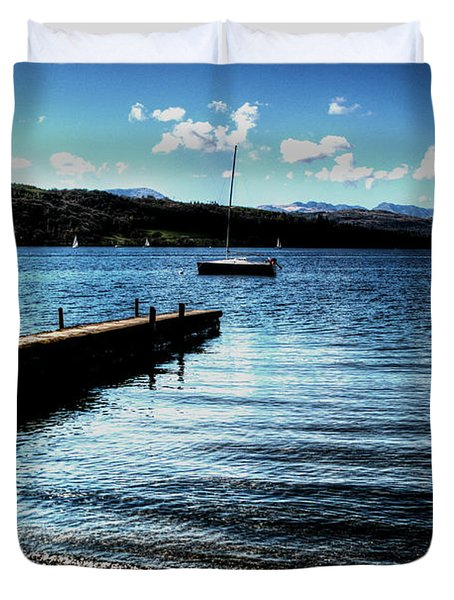 Duvet Cover featuring the photograph Boats In Wales by Doc Braham