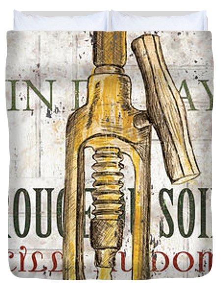 Bordeaux Blanc 1 Duvet Cover by Debbie DeWitt