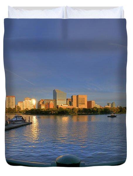Boston Skyline From Memorial Drive Duvet Cover by Joann Vitali