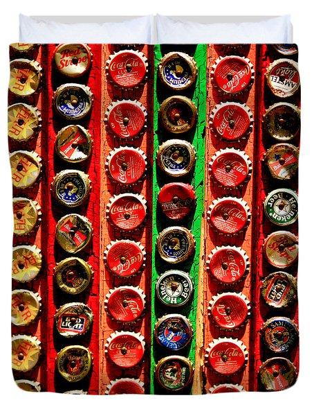 Bottle Caps Duvet Cover by Art Block Collections
