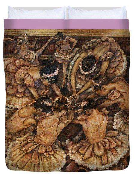 Bouquet Of Ballet    Duvet Cover by Linda Simon