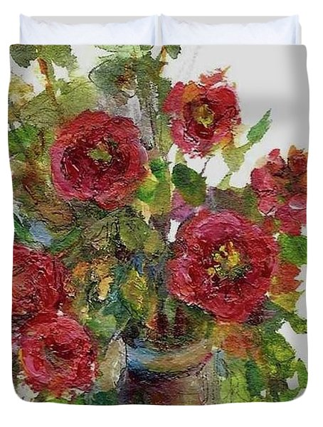 Bouquet Of Poppies Duvet Cover