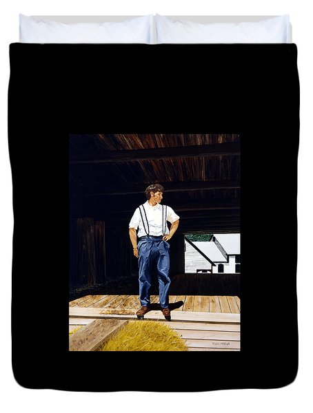 Boy In The Barn Duvet Cover