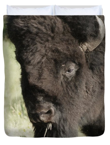 Buffalo Painterly Duvet Cover by Ernie Echols