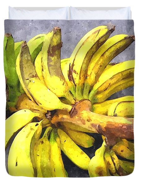 Bunch Of Banana Duvet Cover by Lanjee Chee