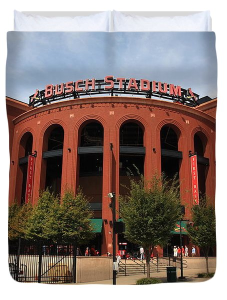 Busch Stadium - St. Louis Cardinals Duvet Cover