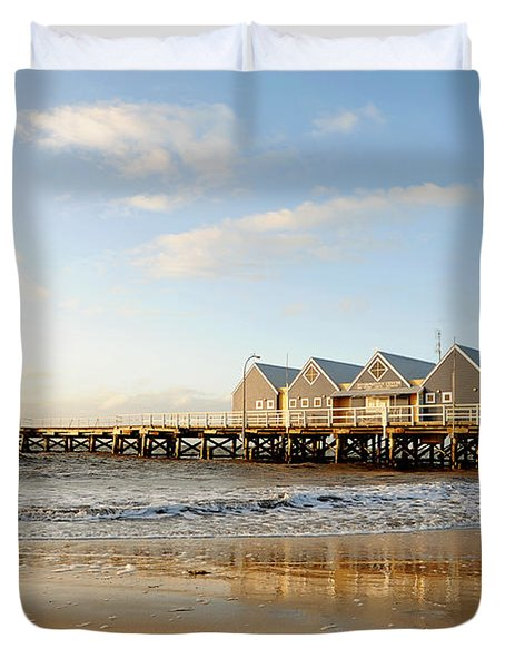 Busselton Jetty Duvet Cover