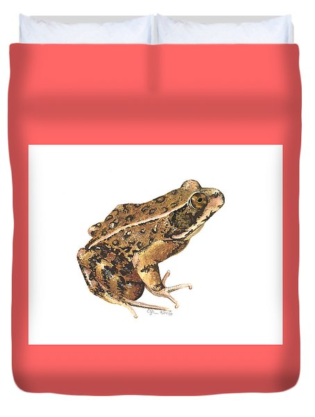 California Red-legged Frog Duvet Cover by Cindy Hitchcock