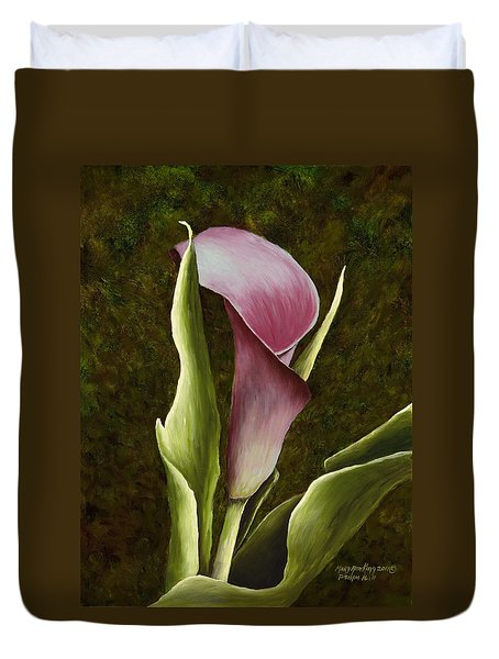 Calla Lily Duvet Cover by Mary Ann King
