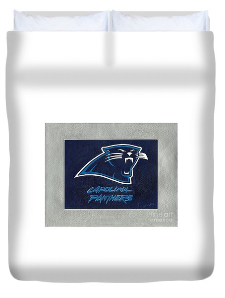 Panthers  Duvet Cover by Herb Strobino