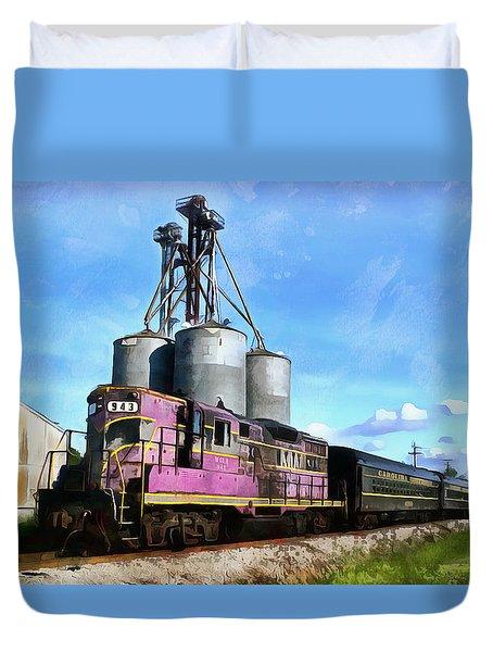 Carolina Southern Railroad Duvet Cover