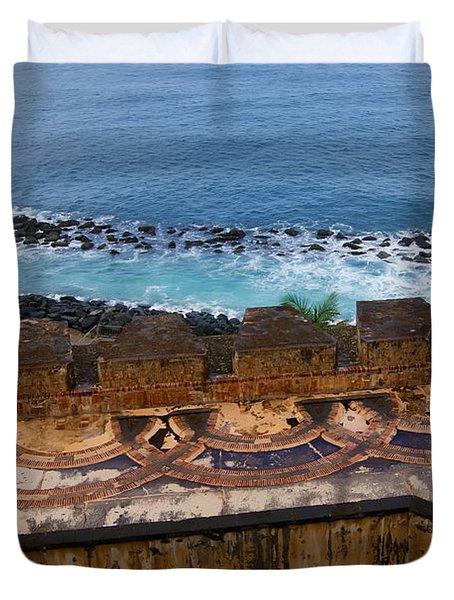 Duvet Cover featuring the photograph Castillo San Felipe Del Morro by Olga Hamilton