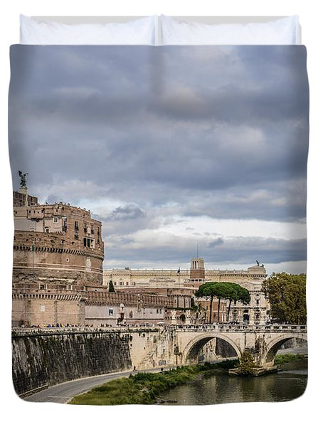 Castle St Angelo In Rome Italy Duvet Cover
