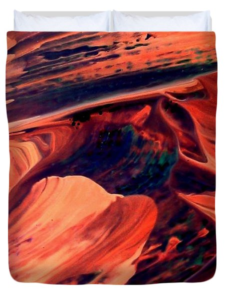 Duvet Cover featuring the painting Catalyst by Jacqueline McReynolds