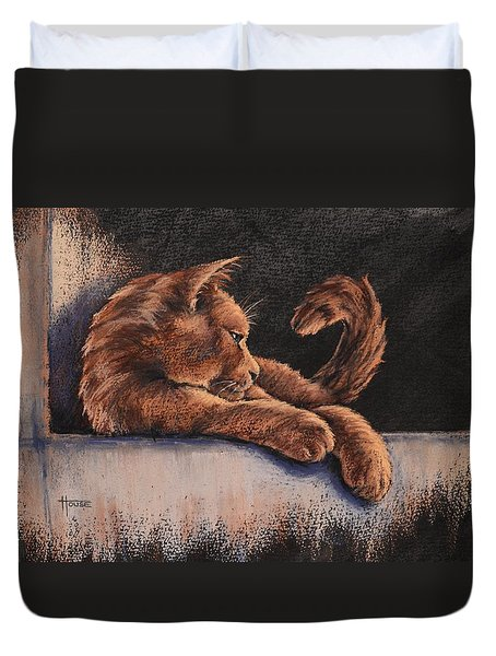 Catching The Last Rays Duvet Cover by Cynthia House