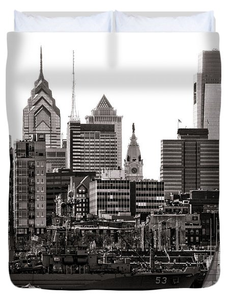 Center City Philadelphia Duvet Cover