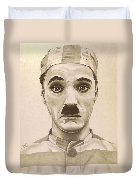 Vintage Charlie Chaplin Duvet Cover by Fred Larucci