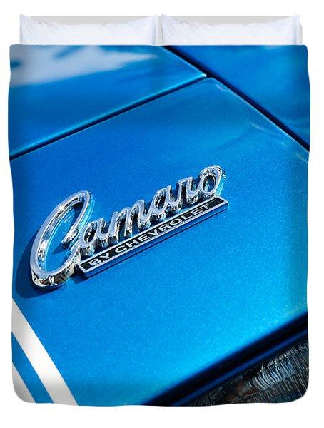 Chevrolet Camaro Emblem Duvet Cover by Jill Reger