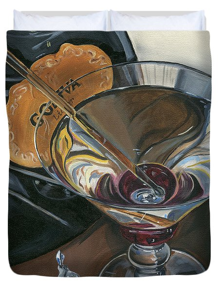 Chocolate Martini Duvet Cover by Debbie DeWitt