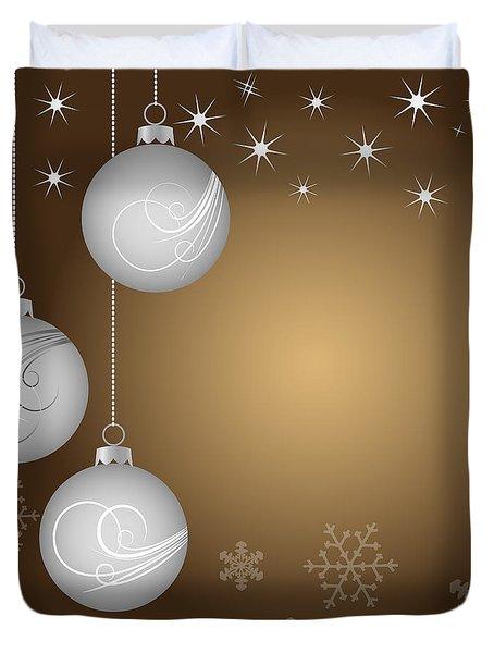 Christmas Background Duvet Cover by Michal Boubin