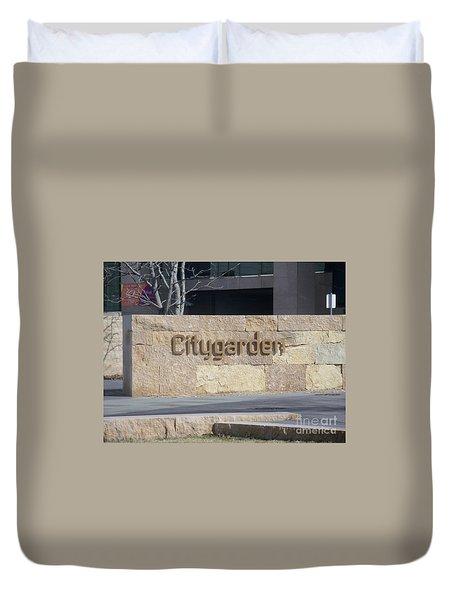 City Garden Duvet Cover by Kelly Awad
