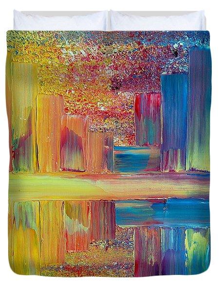 City Lights Duvet Cover by Teresa Wegrzyn