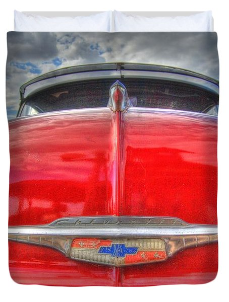Classic Chevy Duvet Cover by Tam Ryan