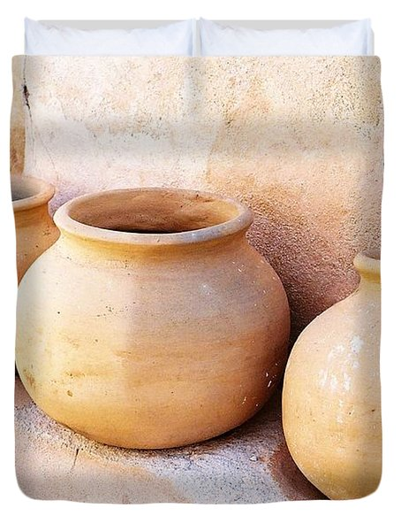 Clay Pots Duvet Cover