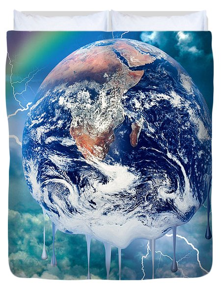 Climate Change Duvet Cover