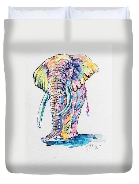 Colorful Elephant Duvet Cover