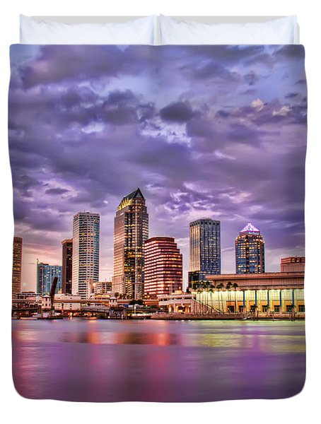 Colorful Night Lights Duvet Cover