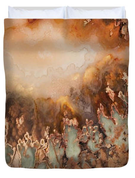 Colorful Plume Agate Duvet Cover by Leland D Howard