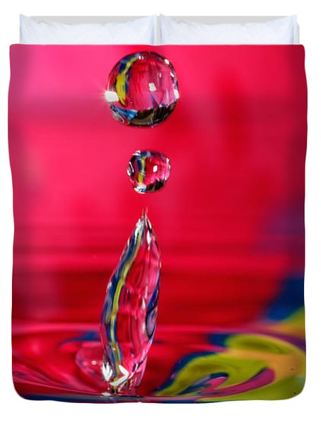 Colorful Water Drop Duvet Cover
