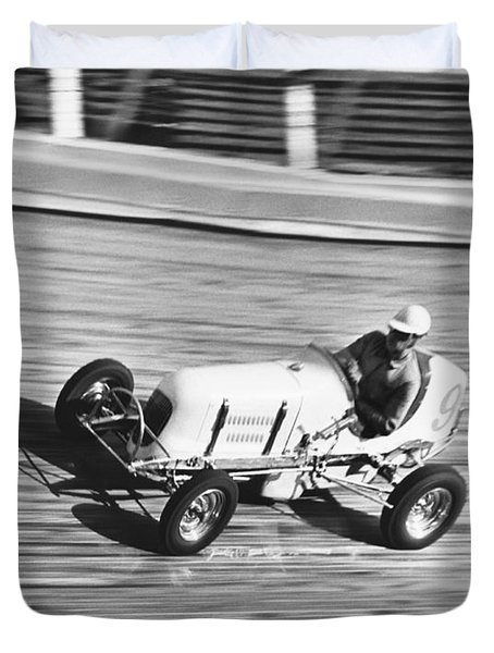 Coney Island Midget Race Car Duvet Cover
