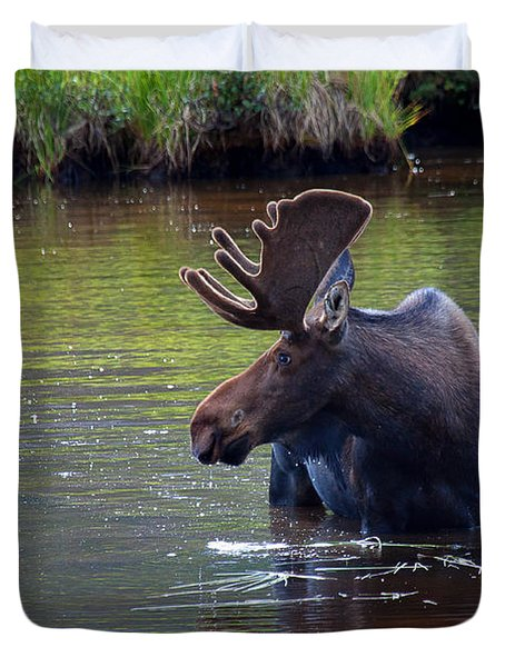 Cooling Off Duvet Cover by Jim Garrison