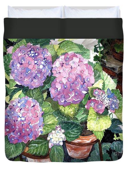 Corner Garden Duvet Cover by Barbara Jewell