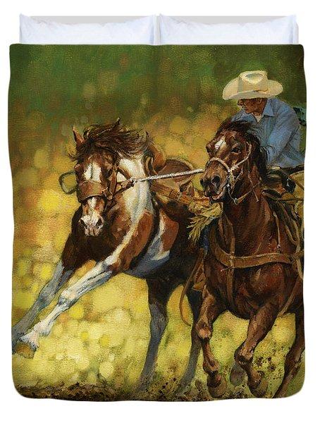 Rodeo Pickup Duvet Cover