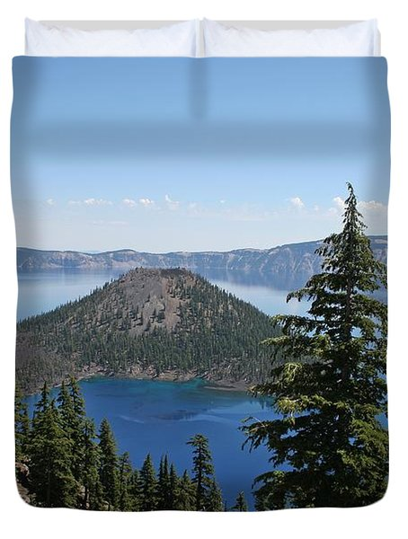 Crater Lake Oregon Duvet Cover