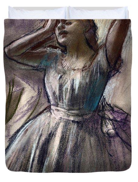 Dancer Stretching Duvet Cover