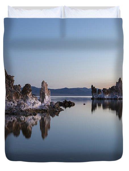 Dawn On Mono Lake Duvet Cover by Sandra Bronstein