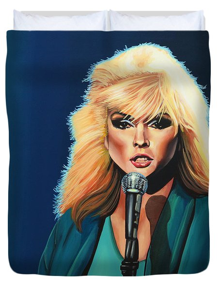Deborah Harry Or Blondie Painting Duvet Cover