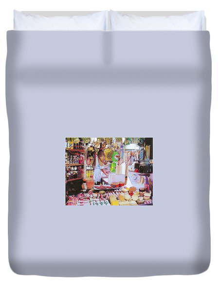 Deli On The Via Condotti Duvet Cover