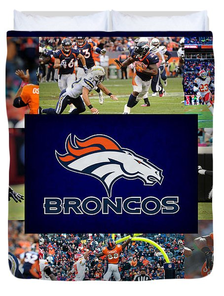 Denver Broncos Duvet Cover