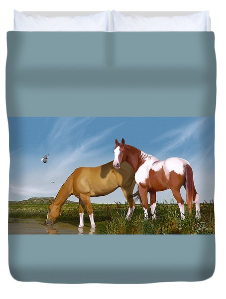 Destiny On Buffalo Plateau Duvet Cover