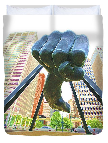 Detroit Fist Duvet Cover