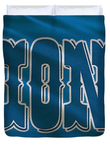 Detroit Lions Uniform Duvet Cover