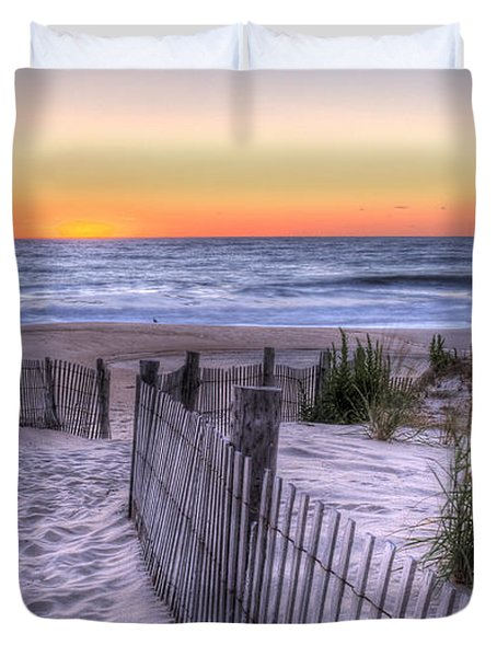 Dewey Beach Sunrise Duvet Cover